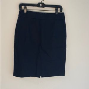 J crew navy pencil skirt size 4